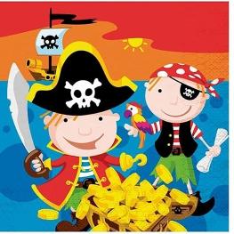 Servilleta piratas 12 unidades