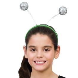 Antenas Abeja bolas plateadas