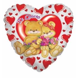 Globo C/Helio Bear With Heart Te Quiero