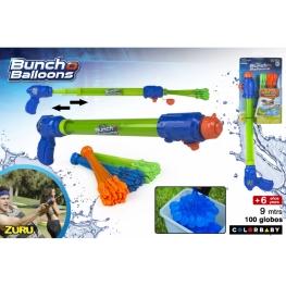 Pistola agua con 100 globos hinchado automático 60