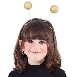 Antenas Abeja bolas doradas