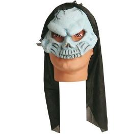 Media máscara calavera  capucha