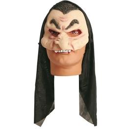 Media máscara vampiro con capucha