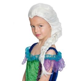 Peluca infantil blanco con treza
