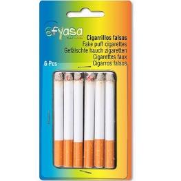 Cigarrillos imitación Paquete 6 unidades