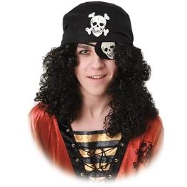 Peluca pirata con parche y bandana