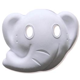 Máscara para pintar con forma cara elefante