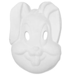 Máscara para pintar con forma de cara conejo