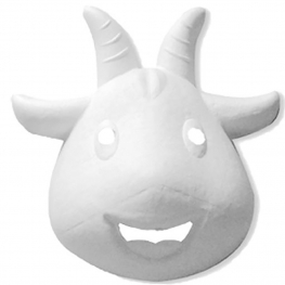 Máscara para pintar con forma cara de cabra