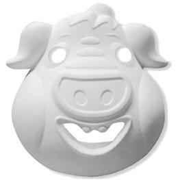 Máscara para pintar con forma cara de cerdo