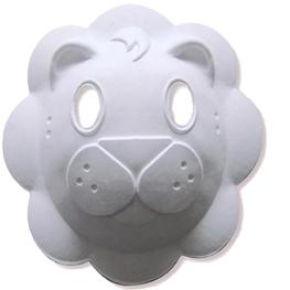 Máscara para pintar con forma cara de león