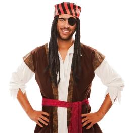 Peluca Pirata Rastas en Caja