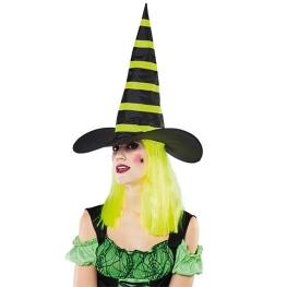 Sombrero bruja con peluca amarilla