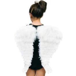 Alas Ángel con plumas blancas