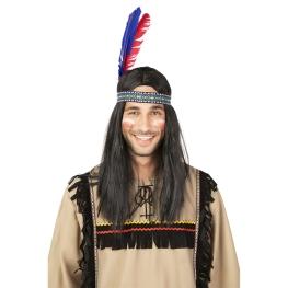 Vincha indio con 2 plumas