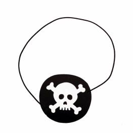 Parche pirata  papel 5 cm ø.