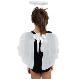 Alas Ángel con tiara plumas blancas