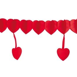 Guirnalda corazones con colgantes