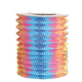 Farolillo tubular rombos 20x16 cm