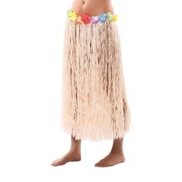 Falda hawaiana con flores