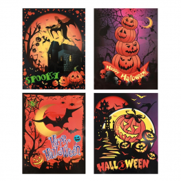 Stickers halloween fluorescentes