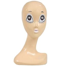 Cabeza maniquí ojos blancos