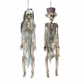 Pareja novios esqueleto