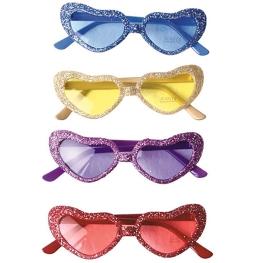Gafas corazón glitter