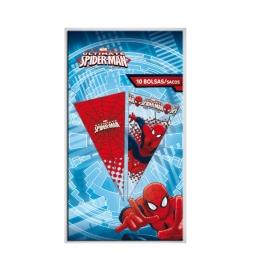 Bolsa Cono Spiderman 10Ud