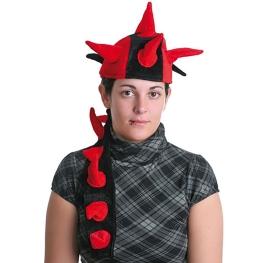 Sombrero con cuernos y cola