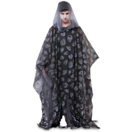 Disfraz de Poncho zombi negro 175cm.  para Adulto