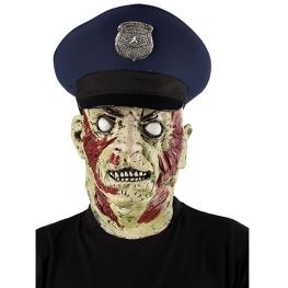 Máscara policía zombi