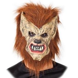 Careta hombre lobo con pelo