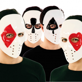 Mascara Poker Plastico 4 Mod. Surtidos 17,5X21,5X9,5 Cm.