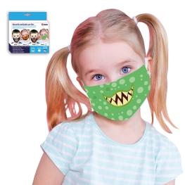 Mascarilla Monstruo Infantil con Filtro (Incluye 2 Filtros)