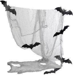 Tela con 6 murciélagos