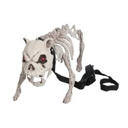 Esqueleto perro con luz y sonido