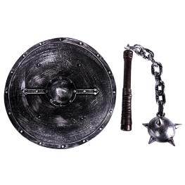 Escudo y maza medieval