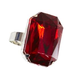 Anillo gema roja