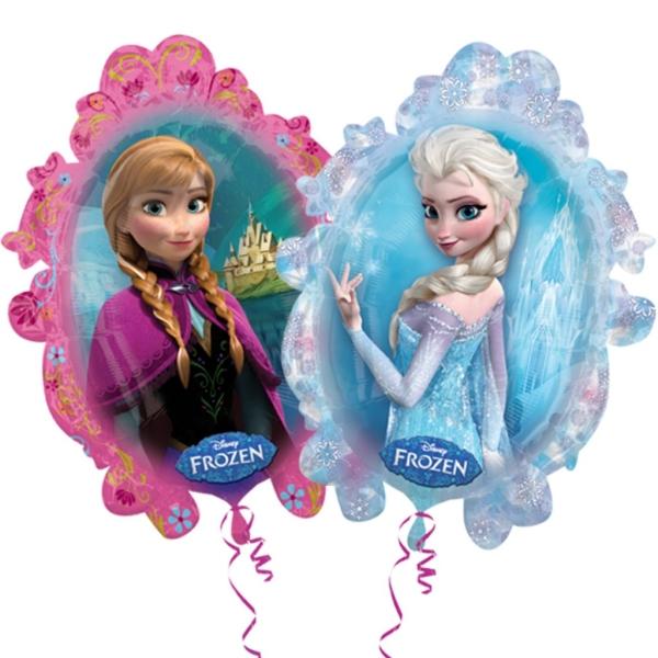 Globo c/helio frozen anna & elsa figura