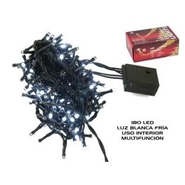 Led 180 luces int. func. 1,5+5,5m. blanca fria