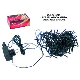 Led 240 luces c/temporizador ext. blanco 14,6