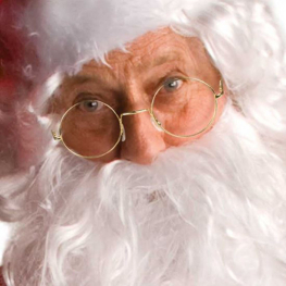 Gafas redondas Papá Noel
