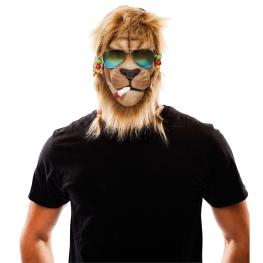 Máscara látex león jamaicano