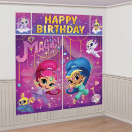 Decoración pared Shimmer & Shine