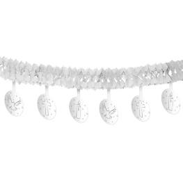 Guirnalda blanca con decoración comunión 4 metros