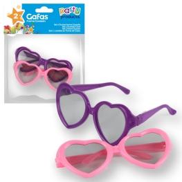 Gafas corazón 2 unidades