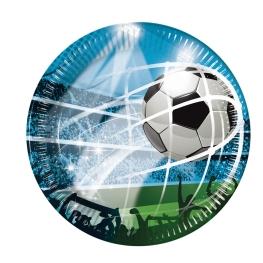 Plato fútbol 23cm 8 unidades