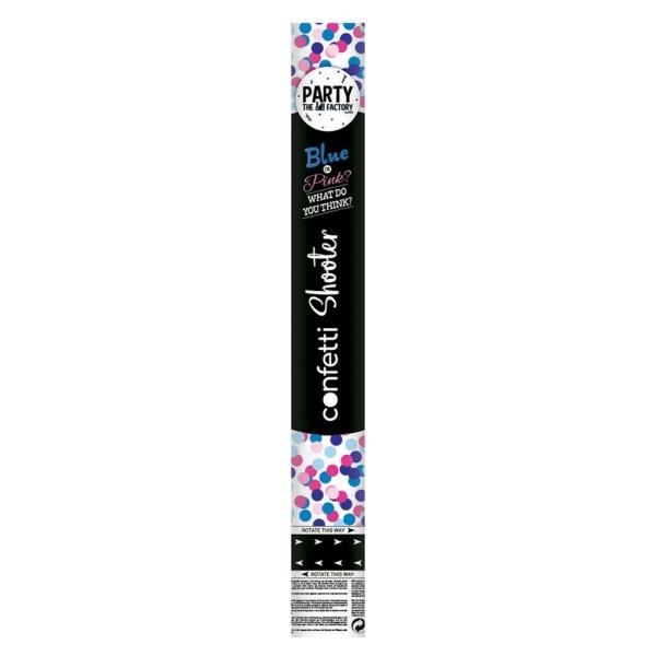 Cañon confetti azul 40cm