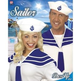 Cuello marinero y sombrero